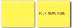 5913 - Yellow Monarch Price Gun Labels, 2-Lines