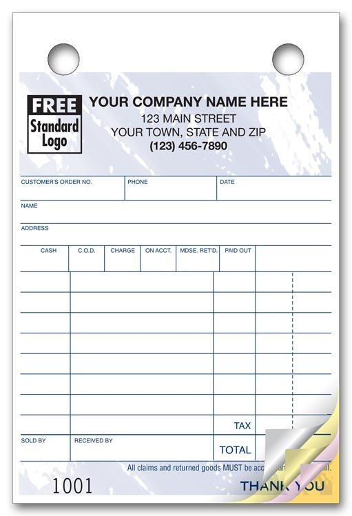 609T - Custom Order Forms | Small Order Forms