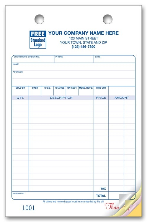 610 - Custom Order Forms - Large