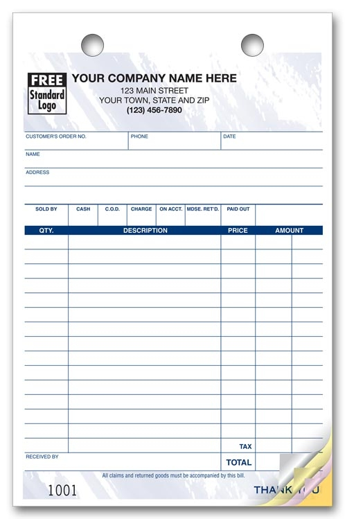610T - Color Background Order Forms
