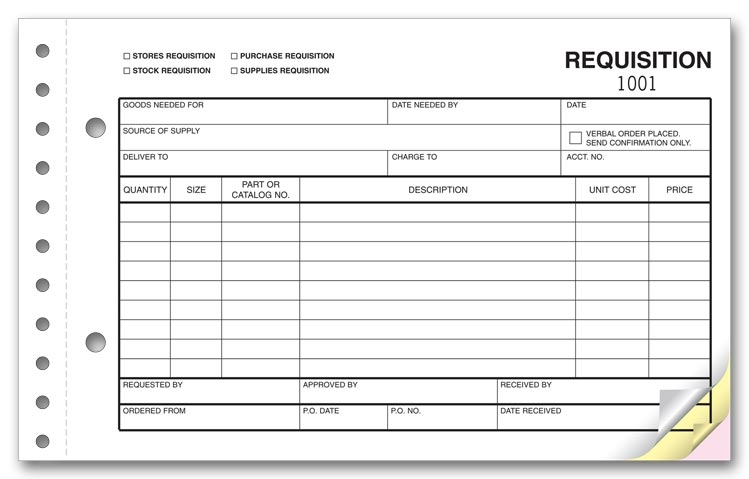 6413 - Requisition Forms