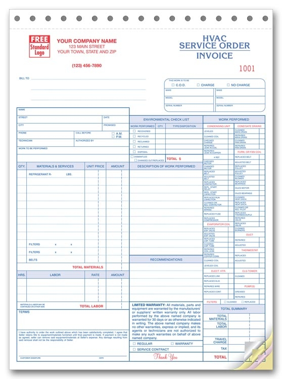6501 - Custom HVAC Service Order Form