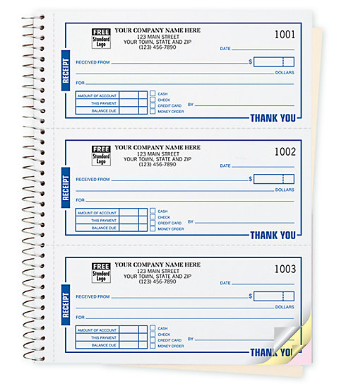 Use these versatile receipt books for virtually anything. Customize with your company information.