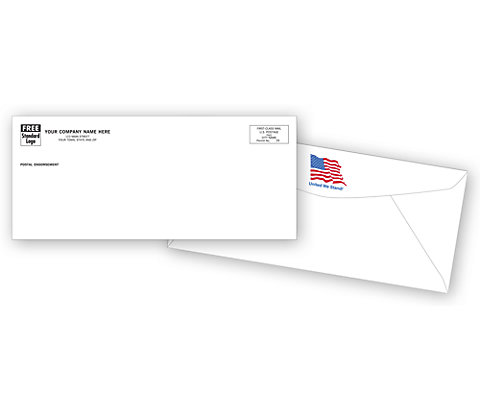 Envelopes with the American Flag show off your patriotic side.
