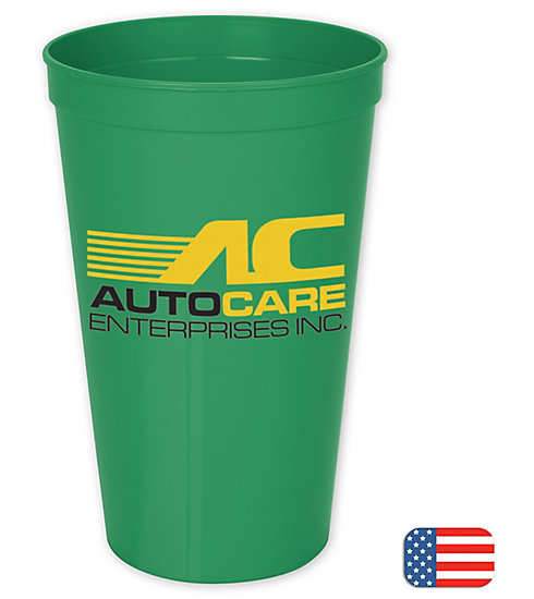 These large plastic stadium cups are ideal for promoting your business in a fun environment.