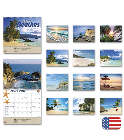 2017 wall calendar featuring impressive photography of Beaches