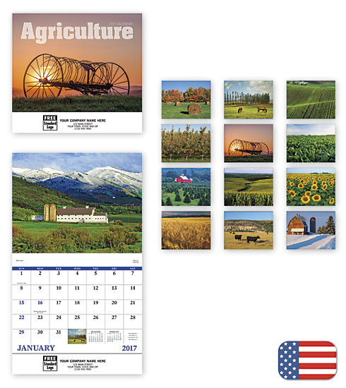 Delight customers with a customized, wall calendar featuring Agriculture photography.