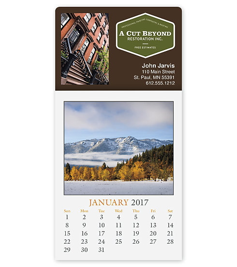 2017 customized calendar with the Full-color Scenic edition