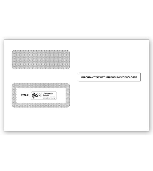 TF77772 - Two Window 1099 Envelopes, Self-Seal