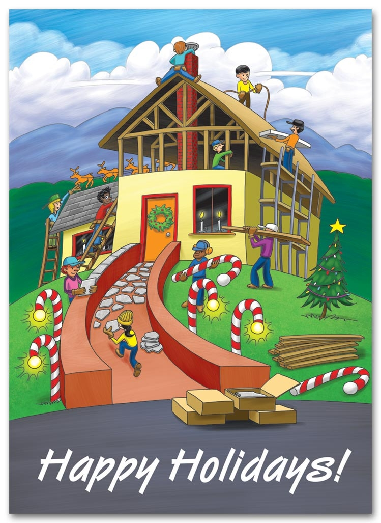 HL2511 - Building Contractor Holiday Cards - Building Joy