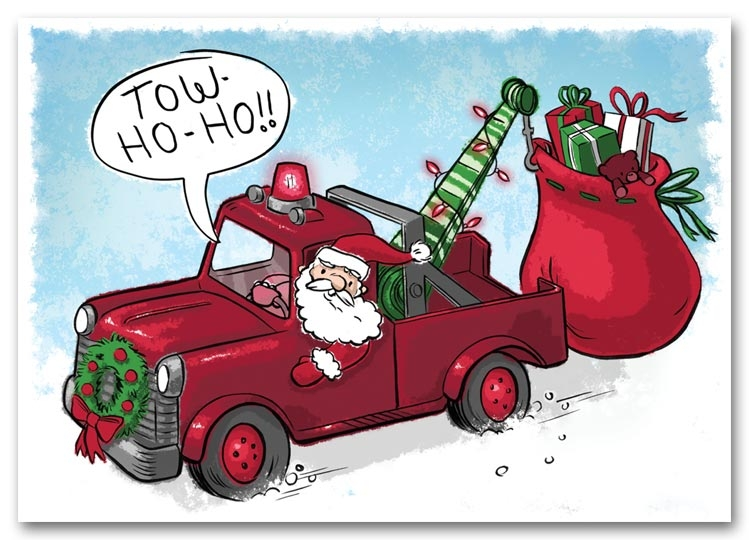 HML1512 - Towing Holiday Cards