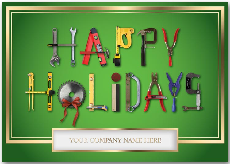 Holiday greeting cards for contractors to say happy holidays.