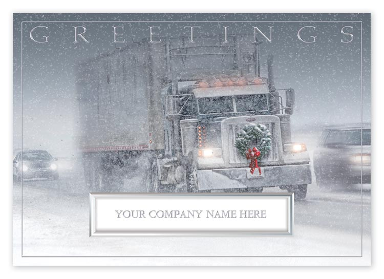 H14629, The Road Home Truck Driver Holiday Cards