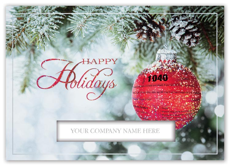 Custom holiday cards with photographic pictures perfect for accounting and bookkeeping firms
