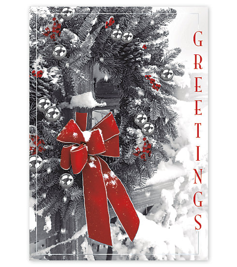 Send your clients the most beautiful wishes this season with this Magnificent card.