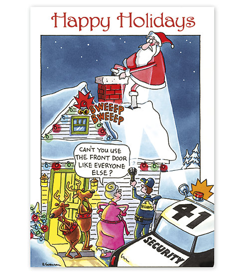 This adorable humorous card is ideal for those in the security industry.