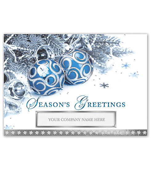 Imprint your company's name on the front of this beautiful card in an alluring die cut window.