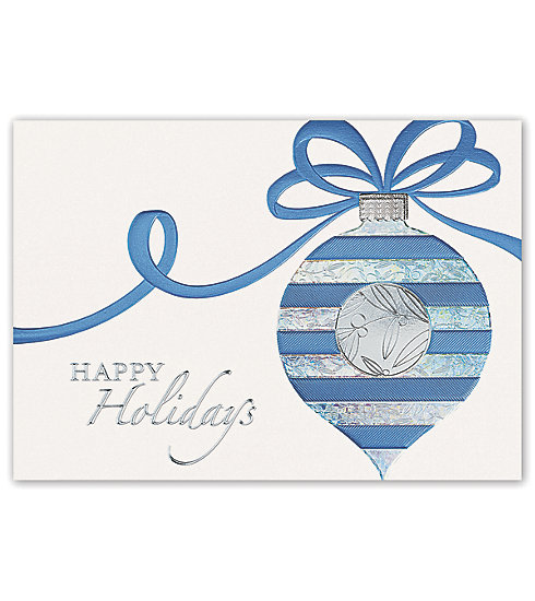Delight your clients with these elegant white pearl cards adorned with a decorative ornament.