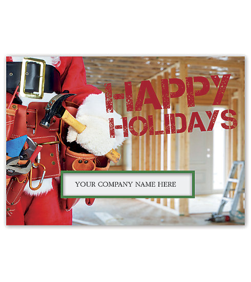 Send your clients the best wishes this season with this handy contractor Holiday Card.
