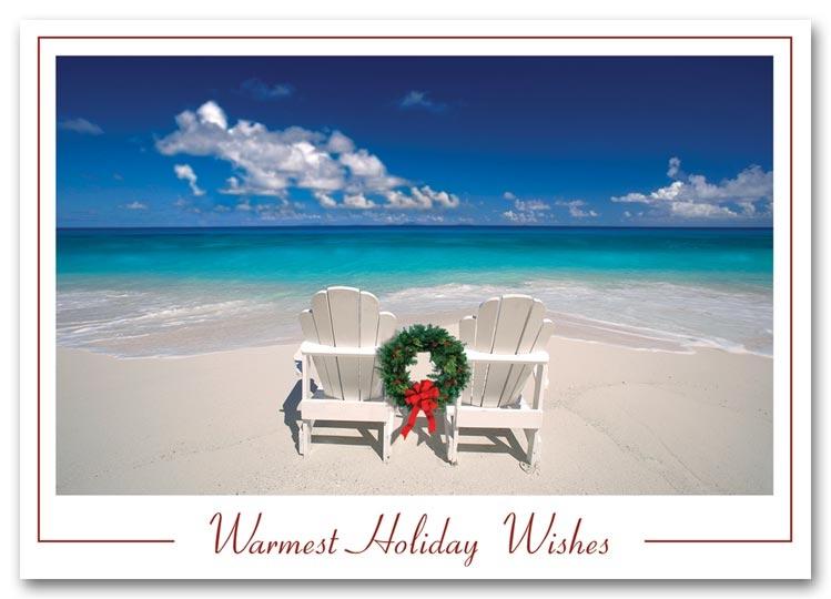 Hs1303 tropical holiday cards printing beachy holiday