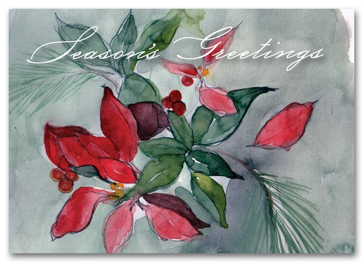 HS1316, Seasonal Flora Holiday Cards