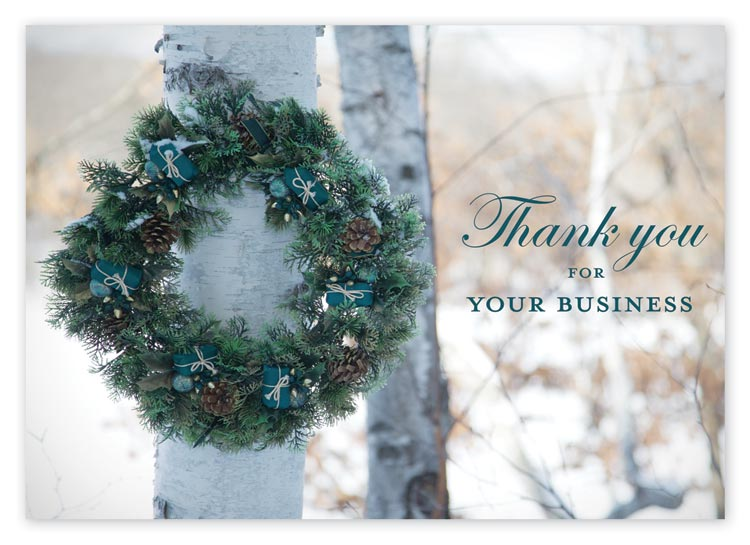 Budget holiday cards with simple image and imprint limited to black ink
