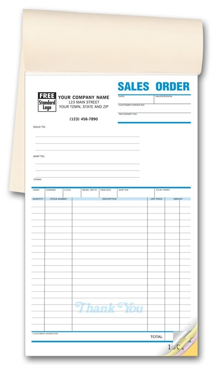 82 - Custom Sales Order Book Printing