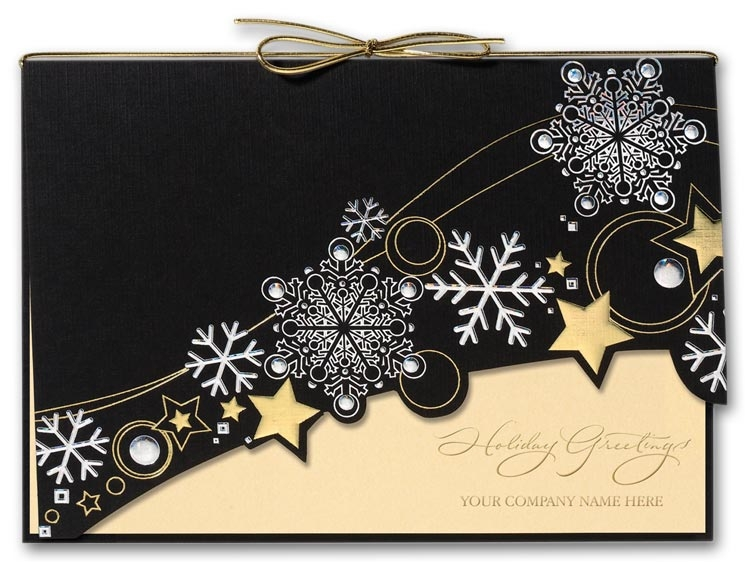 H2613 - Recycled Holiday Cards - Starry Winter Night