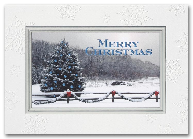 Recycled Christmas Cards - Snowy Winter Bliss