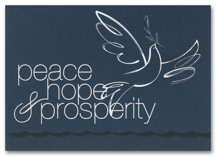 H2637 - Recycled Holiday Cards - Dove of Peace