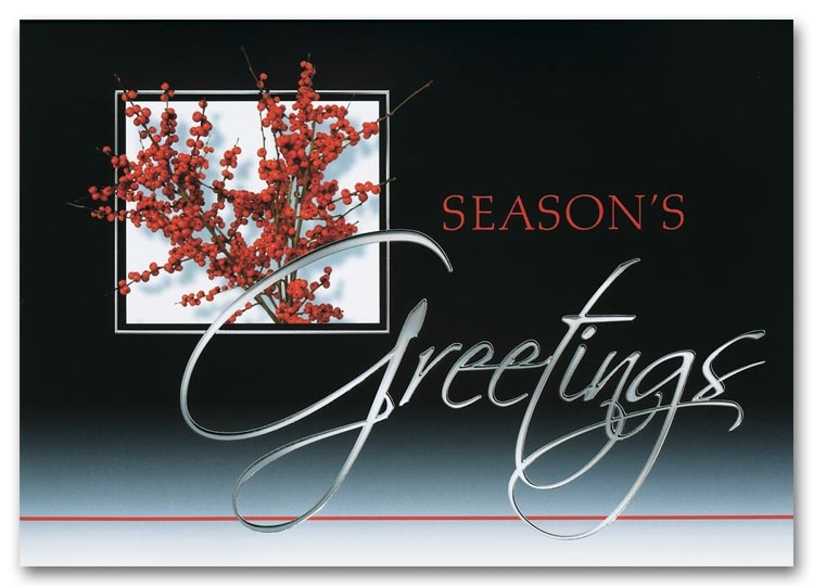 H2649 - Traditional Holiday Cards - Sophistication in Red