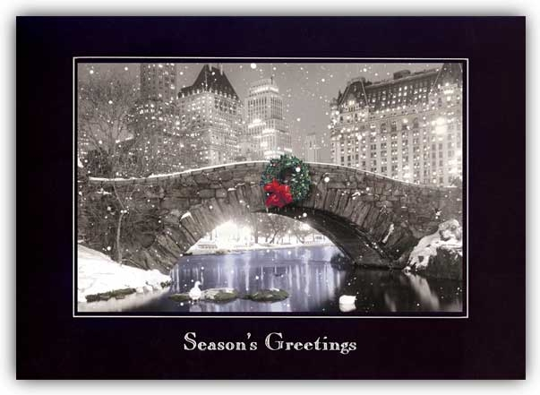 H55928 - Wreath Holiday Cards - Nostalgic Greeting