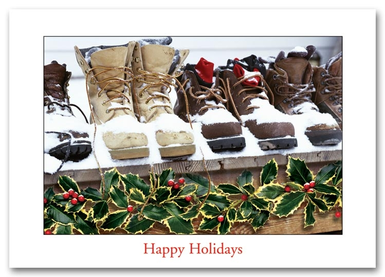 H57006 - Contractor Holiday Cards, Work Boots