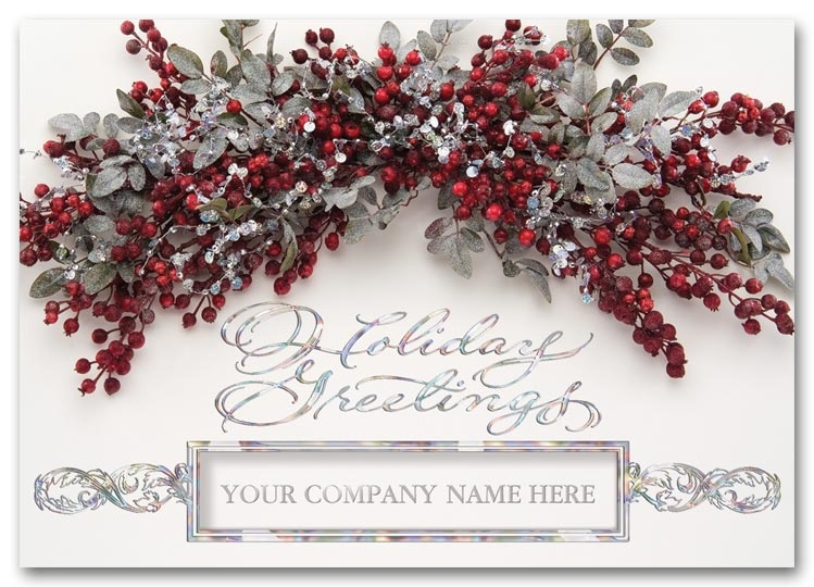 H58202 - Business Holiday Cards | Silver Foil Holiday Cards