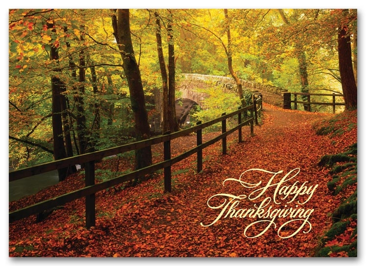 H59845 - Personalized Thanksgiving Cards Printing