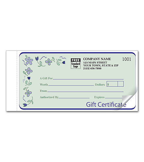 Handy and simple, these gift certificates are perfect for any business.