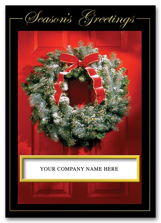 HH1604 - Business Holiday Cards | Wreath Holiday Cards