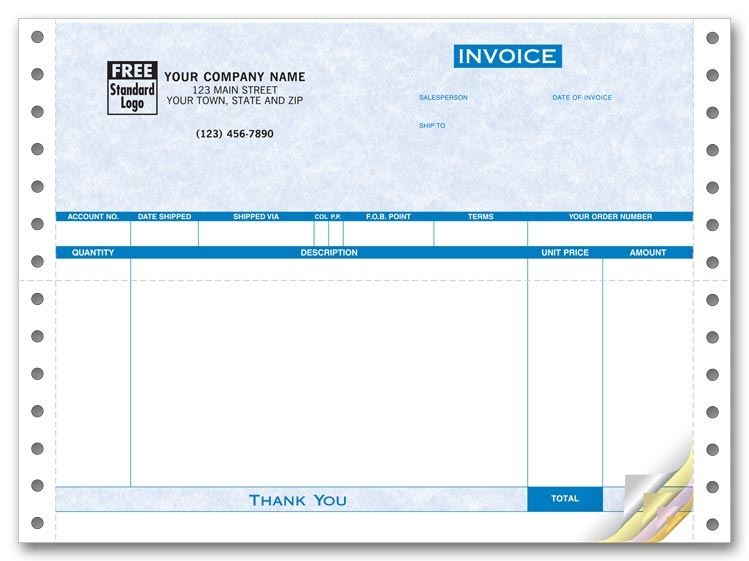 9040G - Continuous Invoice for Form Magic