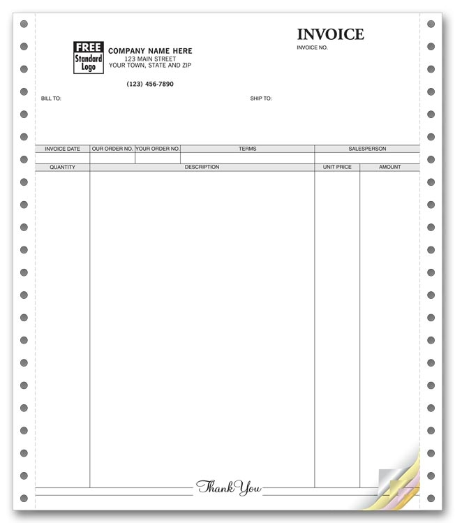 9059 - Custom Continuous Invoices Printing