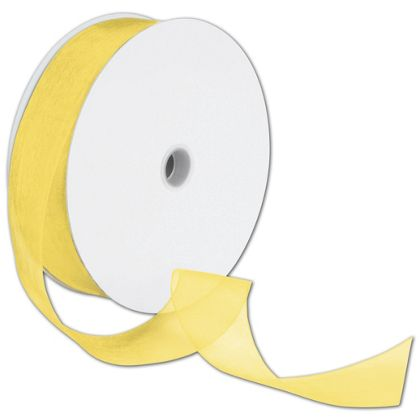 Yellow ribbon. One roll for retail supplies.