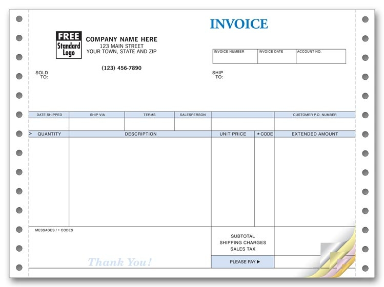 9206 - Compact Continuous Invoice