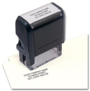 Compact Self-Inking Name & Address Stamp