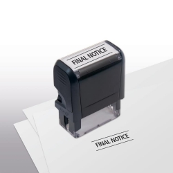 103005, Final Notice Stamp - Self-Inking