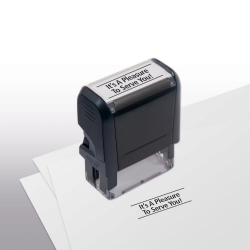 103042, It's A Pleasure To Serve You! Stamp - Self-Inking