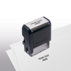 103046, Design Your Own Stock Stamp, Small - Self-Inking