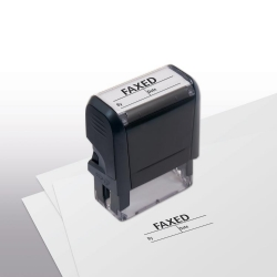 103049, Faxed w/ boxes Stamp - Self-Inking