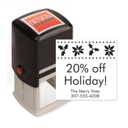 104002, Holly Joy Design Stamp - Self-Inking