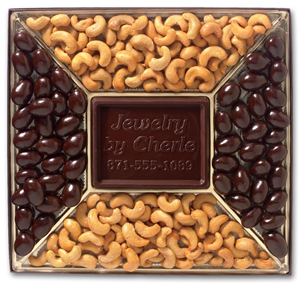 Personalized Chocolate Covered Almonds & Cashews