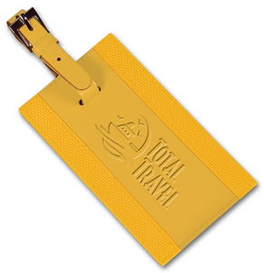 109456, Personalized Leather Luggage Tags