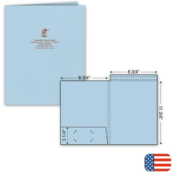109821, Top Tab Presentation Folder - Ink Imprint